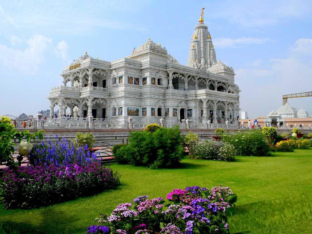 Prem mandir , Vardavan (  प्रेम मन्दिर शानदार नजारा वृन्दावन में उत्तर प्रदेश  ) || Prem Mandir Mathura