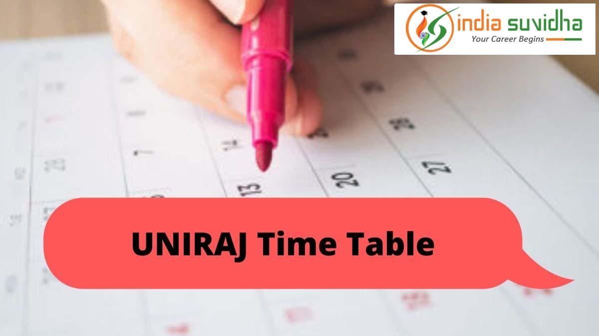 uniraj_time_table_2020